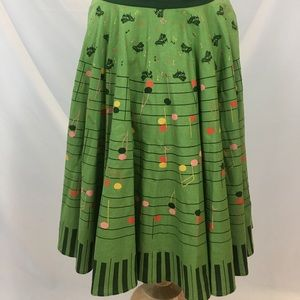Anthropologie Viola piano music note skirt